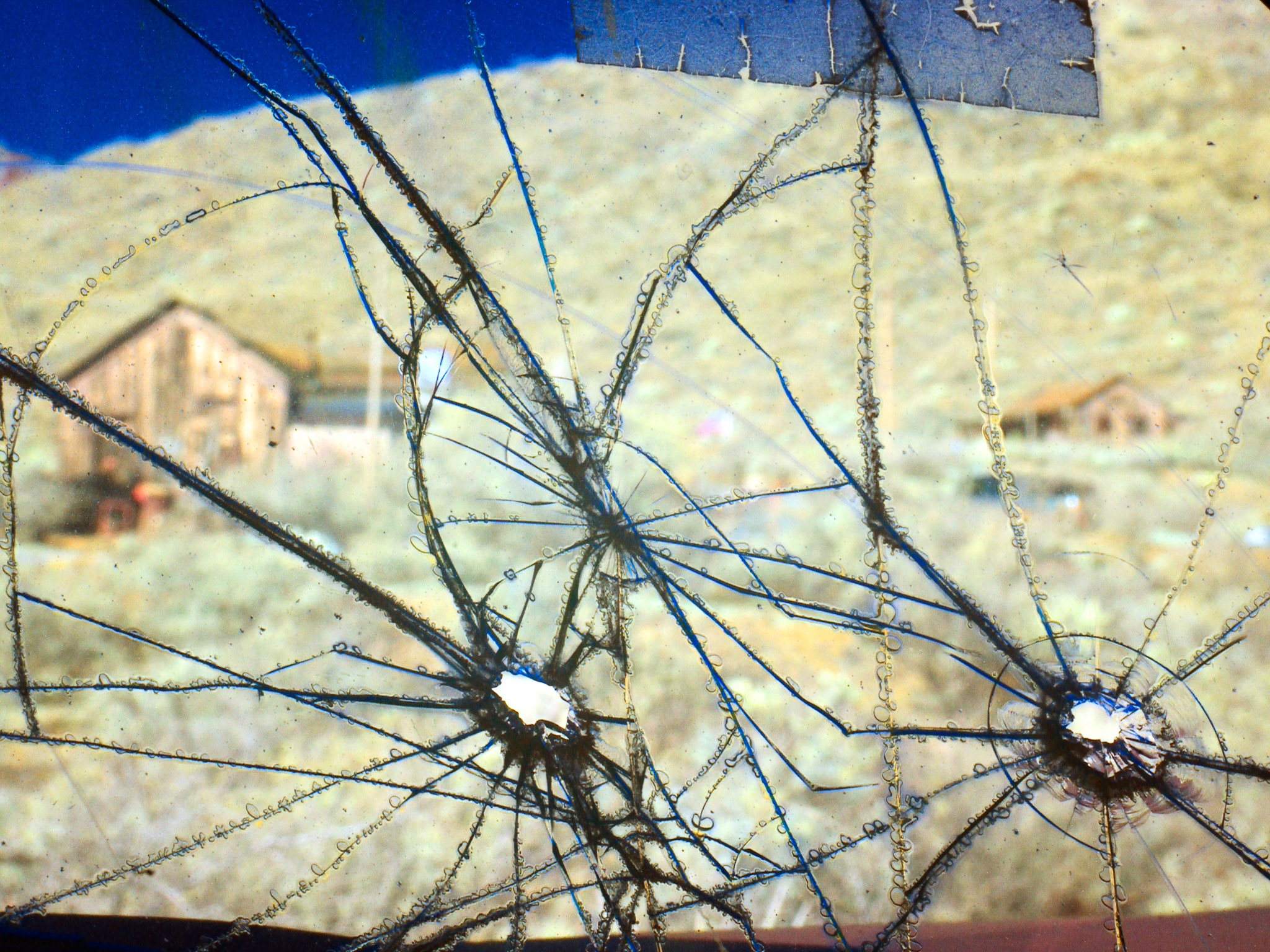 Windshield with Bullet Holes, New Mexico