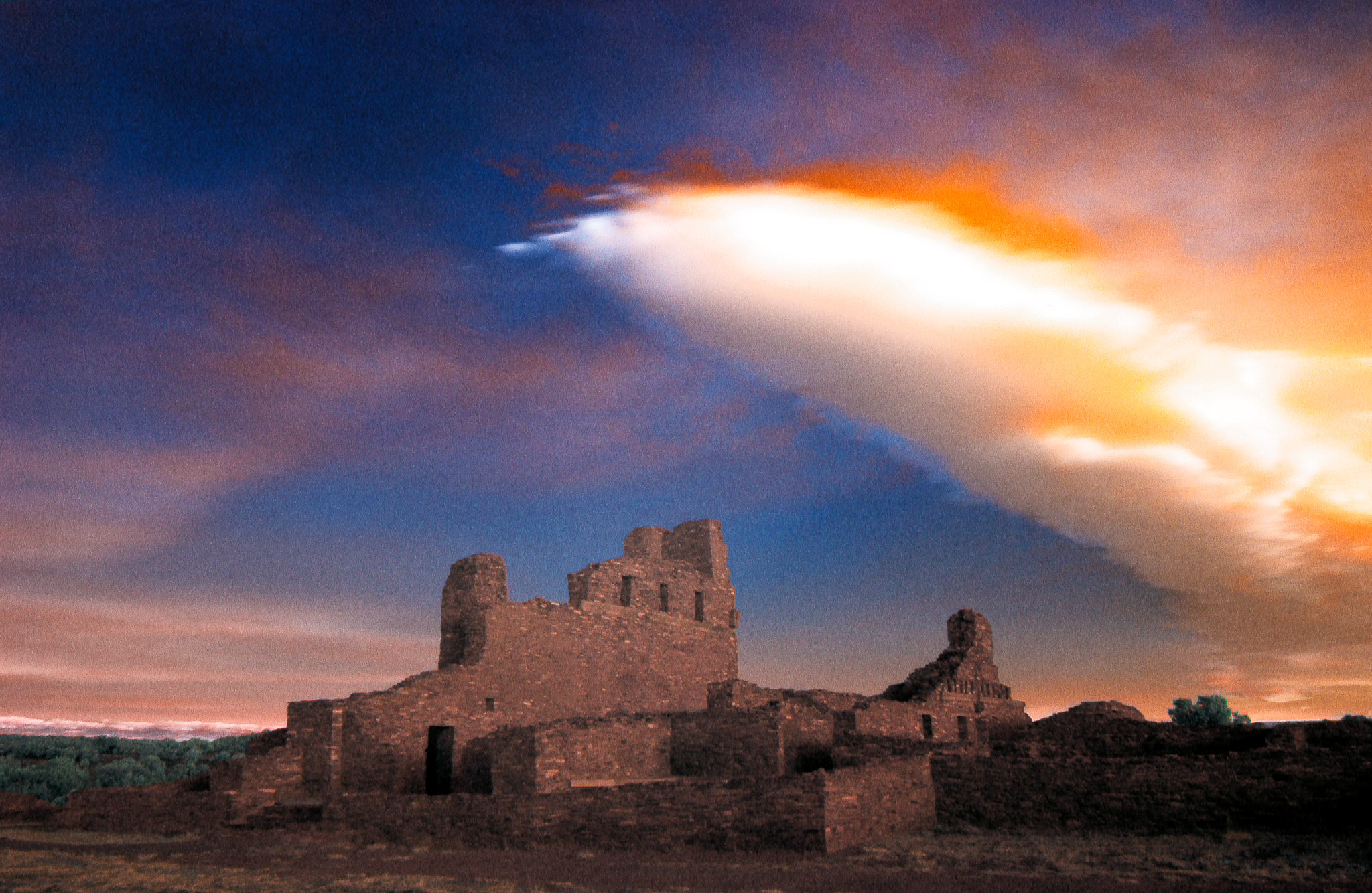 Abo Mission Ruins at Sunrise, New Mexico