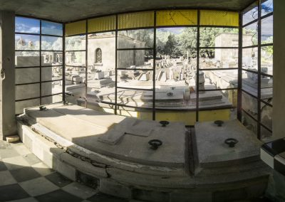 Infrared Panorama of Checkered Mausoleum, Colon Cemetery