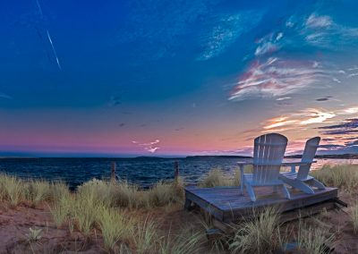 Adirondack Chairs at Dusk, Wellfleet