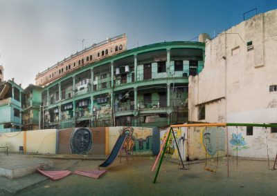 Playground and Flats in Central Havana