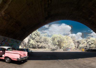 58 Chevy Delray beneath Almendares Bridge